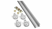 "National  N343-061  48"" By-Pass Door Kit  - Galvanized (770D)"