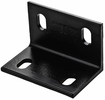 "National  N351-492  3"" X 4.6"" X 1/4"" Wide Corner Brace - Black"