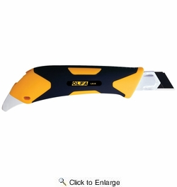 Olfa 1072198  18mm Fiberglass-Reinforced Snap Off Utility Knife with Auto-lock Slide and Rubber Grip (LA-X)