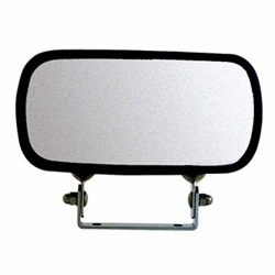 "Open Road 10481  4"" x 8"" Stainless Steel Over Door Convex Mirror (OD600)"