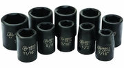 "Performance Tool M592DB  10 Piece 1/2"" Drive SAE Impact Socket Set - 7/16 to 1 inch"