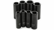 "Performance Tool M594DB  8 Piece 3/8"" Drive SAE Deep Impact Socket Set - 3/8 to 13/16 inch"