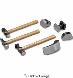 Performance Tool W1007DB  7 Piece Auto Body Repair Kit (3 Hammers and 4 Dollies)