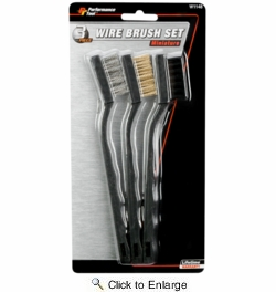 Performance Tool W1148  3 Piece Miniature Wire Brush Set
