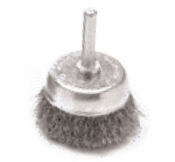 """Performance Tool W1211  1-1/2"""" Fine Wire Brush Cup with 1/4"""" Shank"""