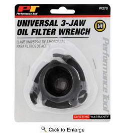 Performance Tool W270  Universal 3-Jaw Filter Wrench