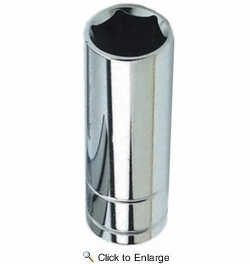 """Performance Tool W38318  9/16"""" SAE Size 6 Point 3/8"""" Drive Deep Well Socket"""