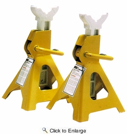 "Performance Tool W41021  2 Ton Ratcheting Jack Safety Stands (10-3/8"" to 16-3/8"") 1 Pair"