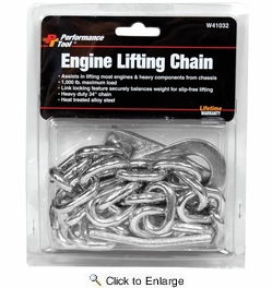 "Performance Tool W41032  1000 lb Capacity Engine Lifting Chain - 34"" Length"