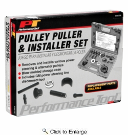 Performance Tool W89708  Pulley Puller And Installer Set