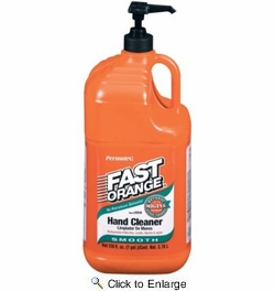 Permatex 23218  Fast Orange Smooth Lotion Hand Cleaner - 1 Gallon Bottle w/Pump