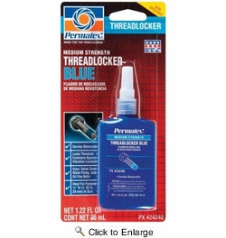 Permatex 24240  Medium Strength Threadlocker BLUE - 36 ml Bottle (242)