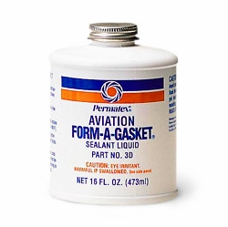 Permatex 80017  Aviation Form-A-Gasket No. 3 Sealant - 16 oz Bottle (3D)