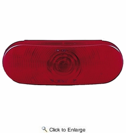 Peterson V421R  Stop/Tail & Turn Light   Oval   Red