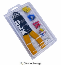 """Pico 0002-DLK  26 Piece """"Dumb Little Kit"""" Electrical Terminal Kit Including Crimping Tool"""