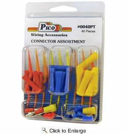 Pico 0040PT  40 Piece Butt Connector and Assorted Terminal Kit (22-16, 16-14 & 12-10 AWG)
