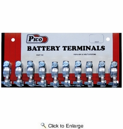 """Pico 0825L  3/8"""" Universal Marine Wing Nut Positive Lead Battery Terminal 10 Per Card"""
