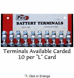 Pico 0880AS  Universal 6-1/0 AWG Emergency Top Post Battery Terminal 100 Per Case