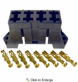 Pico 0910A  4 Slot Fuse Block for ATO and ATC Blade Fuses Includes Terminals 25 Blocks Per Package