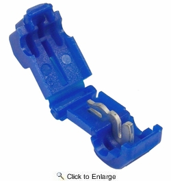 """Pico 1568D  18-14 AWG (Blue) Electrical Wiring 0.250"""" Tab Snap T-Tap / Splice Connector 4 Per Package"""