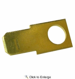 "Pico 1596PT  Electrical Wiring Brass 0.250"" Male Tab with #10 Stud Hole 50 Per Package"