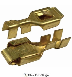 "Pico 1599QT  Electrical Wiring Brass 0.250"" Female Lock Receptacle Connector 2 Per Package"