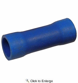 Pico 1801D  16-14 AWG(Blue)  Flared Vinyl Insulated Electrical Wire Parallel Butt Connector 11 Per Package