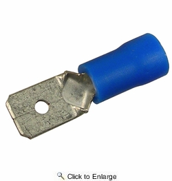 """Pico 1852PT  16-14 AWG(Blue)  Flared Vinyl Insulated Electrical Wiring 0.187"""" Male Tab Quick Connect Terminal 100 Per Package"""