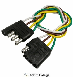 """Pico 1873L  4-Way Trailer Electrical Connector 12"""" Male and Female 9 per Card"""