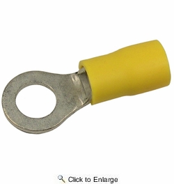 "Pico 1908PT  12-10 AWG(Yellow)  Flared Vinyl Insulated Electrical Wiring 5/16"" Ring Terminals 25 Per Package"