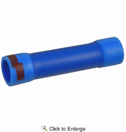 Pico 2287A  6 Gauge to 8 Gauge Blue with Red Stripe Electrical Wiring Step Down Butt Connector 100 Per Package