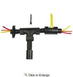 """Pico 5113A  3/4""""-1/2""""-3/4"""" Convoluted Tubing (Split Loom) """"T"""" Fitting / Connector 25 Per Package"""
