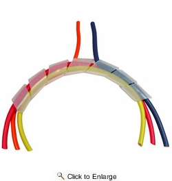 """Pico 5118A  1/8"""" Spi Wrap Expandable Spiral Cut Wiring Wrap 100' Per Package"""