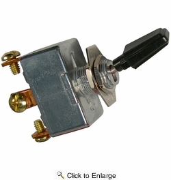 """Pico 5573A  6-12 Volt 50 Amp Heavy Duty On-Off Toggle Switch 1"""" Black Handle SPST 25 per Package"""
