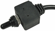 Pico 5589A  12 Volt 25 Amp Momentary On-Off-Momentary On Waterproof Toggle With Boot SPDT - 3 Position 25 Per Package
