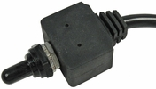 Pico 5589PT  12 Volt 25 Amp Momentary On-Off-Momentary On Waterproof Toggle With Boot SPDT - 3 Position 1 Per Package