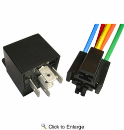 Pico 5591PT  12 Volt 40 Amp 5 Terminal General Purpose Automotive Change-Over Relay and Connector Pigtail Set