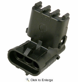 Pico 5864A  Three Cavity Weatherpack Connector Shroud Housing (12010717) 100 per Package