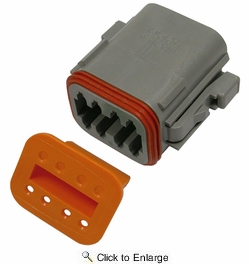 Pico 5999G  8-Way Deutsch / Wedgelock Connector Male Housing and Wedge Set 50 Sets per Package