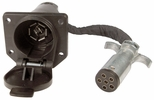 Pico 6585PT  6-Way Round Pin Male to 7-Way RV Blade Female Trailer Connection Adapter