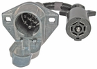 Pico 6586PT  7-Way Round Pin Male to 7-Way RV Blade Female Trailer Connection Adapter