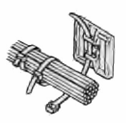 """Pico 7095PT  1-1/8"""" Square Adhesive Backed Tie Wrap Mounts 12 per Package"""