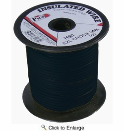 Pico 82143S  14 AWG Black SXL Cross-Linked Wire for Higher Heat Resistance 100' per Package
