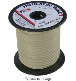 Pico 82147S  14 AWG White SXL Cross-Linked Wire for Higher Heat Resistance 100' per Package