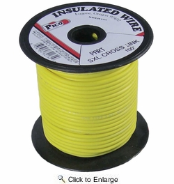 Pico 82182S  18 AWG Yellow SXL Cross-Linked Wire for Higher Heat Resistance 100' per Package