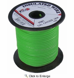 Pico 82184S  18 AWG Green SXL Cross-Linked Wire for Higher Heat Resistance 100' per Package