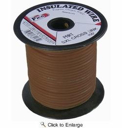 Pico 82186S  18 AWG Brown SXL Cross-Linked Wire for Higher Heat Resistance 100' per Package