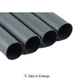 """Pico 8225PT  1"""" Black Single Wall Heat Shrink Tubing 4-6"""" Pieces per Package"""