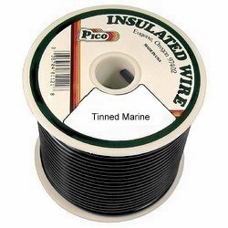 Pico 83103S  10 AWG Black Tinned Marine Wire 100' per Package