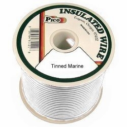 Pico 83147S  14 AWG White Tinned Marine Wire 100' per Package